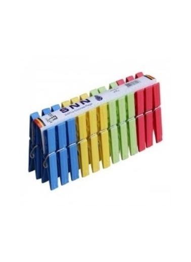 Emre Züccaciye Snn Çamaşır Mandalı - Plastik Mandal 24X5=120 Li Renkli